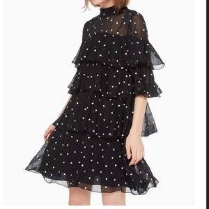 Kate Spade 'Heartbeed' Embroidered Dress size 2